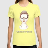 Buddha Concentrate Womens Fitted Tee Lemon SMALL
