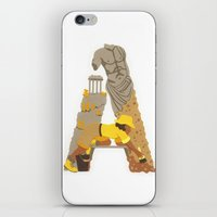 iPhone & iPod Skin featuring A as Archaeologist by Anastassia Elias