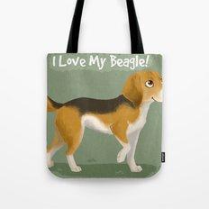 I love my beagle! Tote Bag
