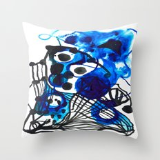 Paint 5 abstract minimal modern painting trendy bold painterly dorm college urban apartment decor Throw Pillow