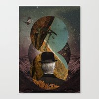 Starlit Rafting Canvas Print