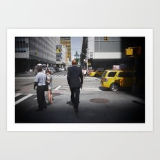 NYC modern mad men Art Print