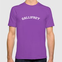 Gallifrey College Logo Mens Fitted Tee Ultraviolet SMALL