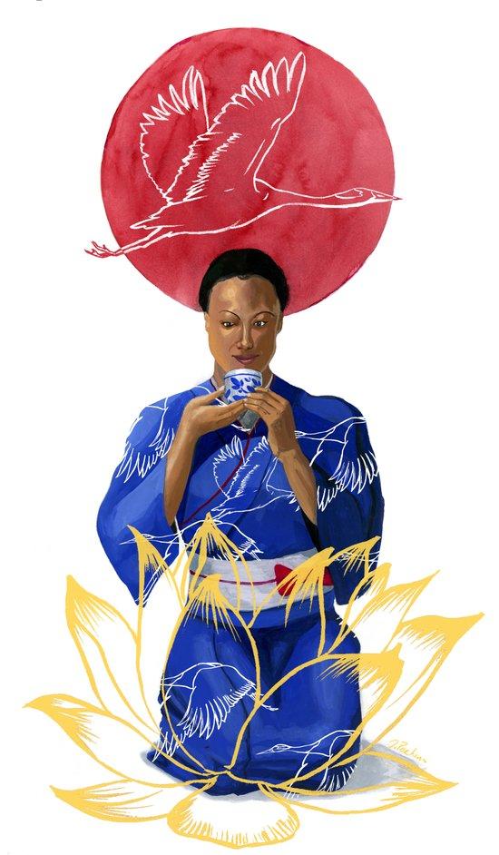 Asian Lotus Art Print