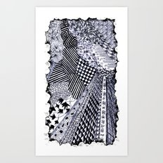 Zentangle 01 Art Print