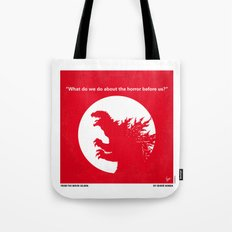 No029-1 My Godzilla 1954 minimal movie poster Tote Bag