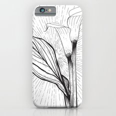 Lily in Black and White Slim Case iPhone 6s