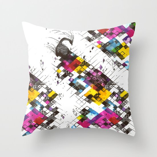 Ink Kaleidoscope Throw Pillow