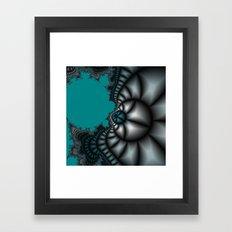 Blue shale fractal Framed Art Print