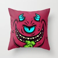 HORN MONSTER Throw Pillow
