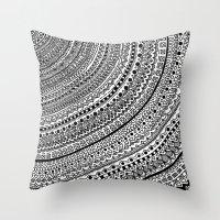 Black Pulse O1. Throw Pillow