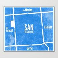 This is SF (Blue) Canvas Print