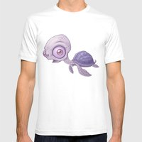 Sea Turtle Mens Fitted Tee White SMALL