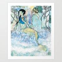 Pale Siren Art Print