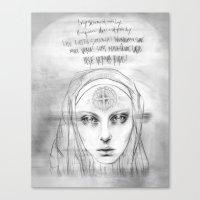 St. Benedict Ghost Canvas Print
