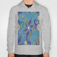 Blue Abstract Floral Hoody