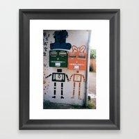 Boy And Girl  Framed Art Print