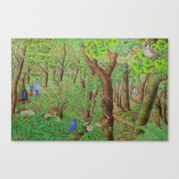 A Day of Forest (2). (sunshine forest) Canvas Print