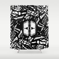 Broken bones, angry fists Shower Curtain