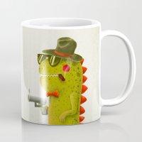 Dino bandito (olive) Mug