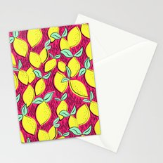 Lemon and pink Stationery Cards