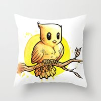 Stop Overthinking This Gosh Darn Crap and Just Draw a Bird! Throw Pillow