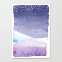 Snowy Landscape Abstract Canvas Print