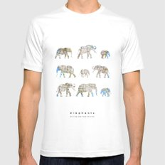 Elephants of the United States Mens Fitted Tee White SMALL
