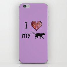 I Heart My Cat iPhone & iPod Skin