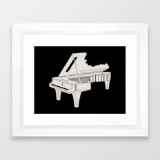 Music Is The Key. Framed Art Print