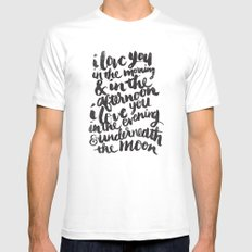 I love you in the morning SMALL Mens Fitted Tee White