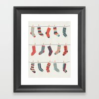 Don't Waste Time Matching Socks Framed Art Print
