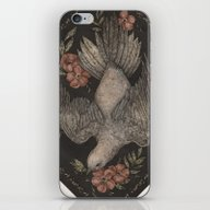 Dove And Flowers iPhone & iPod Skin