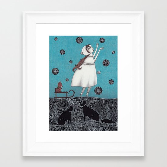 Between the Woods and Frozen Lake Framed Art Print