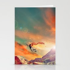 THE MAN WHO WANNA FLY AWAY Stationery Cards