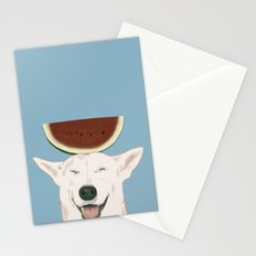 Watermelon doggy smile Stationery Cards