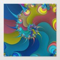 wet paint fractal  Canvas Print