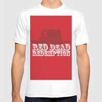 Red Dead Redemption Mens Fitted Tee White SMALL