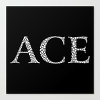 Ace of Spades - Variant Canvas Print