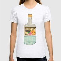 Chloroform Phoenix Womens Fitted Tee Ash Grey SMALL