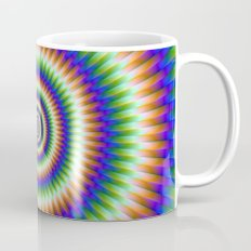 Sliding Rings in Orange Blue and Green Mug