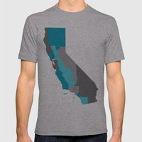 I Love California - California State Map Print Mens Fitted Tee Athletic Grey SMALL