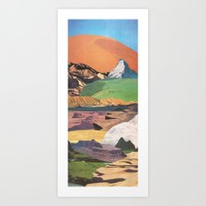 Peaks And Plateaus Art Print