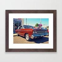 Classic Ford Fairlane 500 Framed Art Print