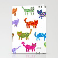 Cat Pattern Stationery Cards