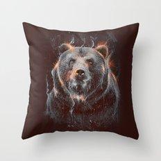DARK BEAR Throw Pillow