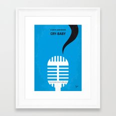 No505 My Cry-Baby minimal movie poster Framed Art Print