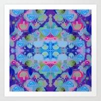 Staycation (blue) Art Print