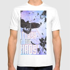 Attack of The Birds! Mens Fitted Tee SMALL White