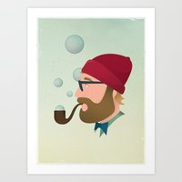 Soap bubble Hipster Art Print